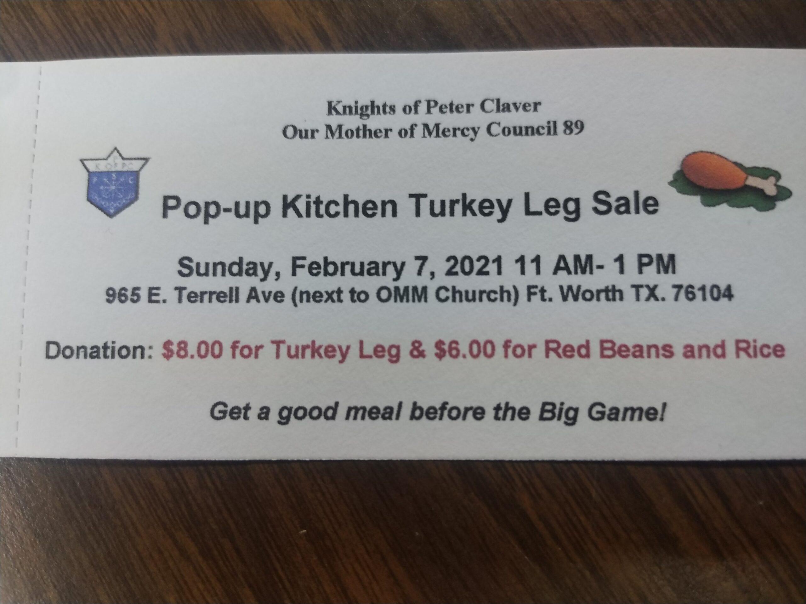 Pop-up Kitchen Turkey Leg Sale