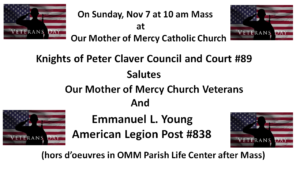 Veterans Honored- Our Mother of Mercy